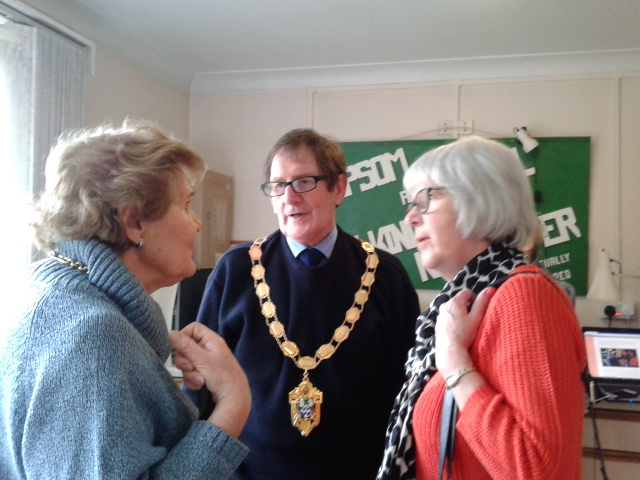 Photograph of the Mayor & Mayoress with Judy Sarassen