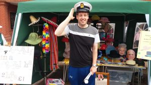 Photograph of EETN listener Luke wearing a Captain's hat