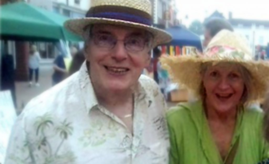Photograph of Jan and her husband Rob Taylor