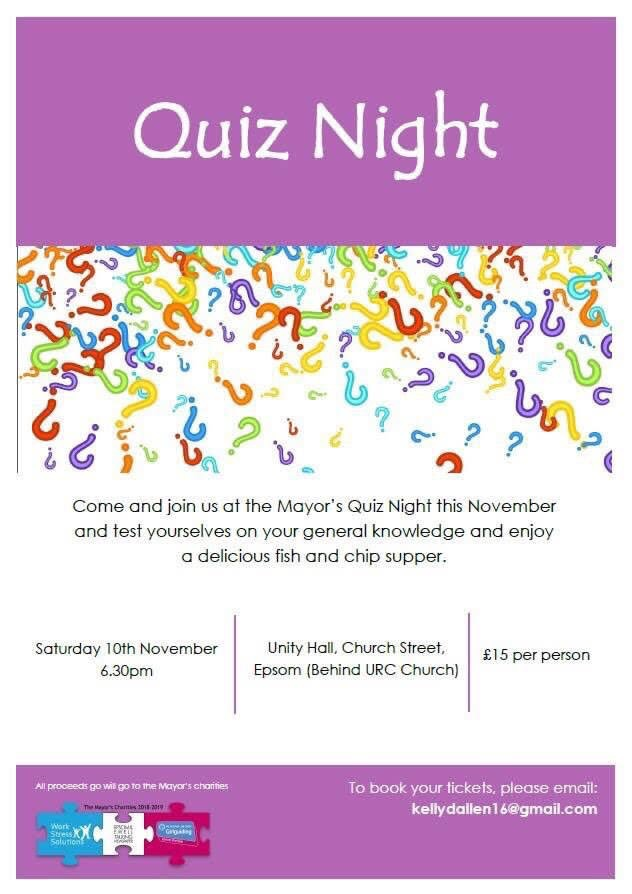 Information Poster for Quiz night