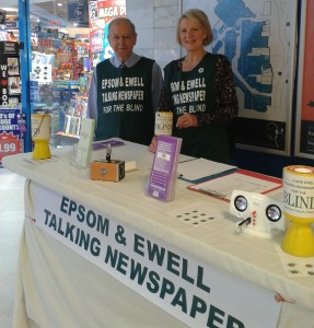 Photograph of Volunteers manning our stand in Epsom for Awareness Day 2013