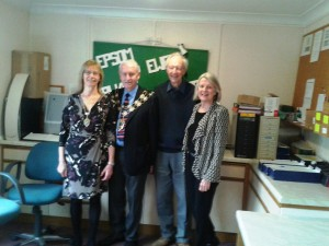 Photograph of the Mayor and Mayoress with Jan & Roger