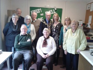 Photograph of the Mayor and Volunteers in the Studio