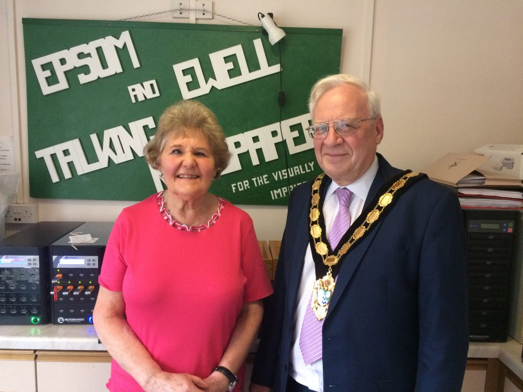 """Chair Judy Sarssam and Mayor of Epsom and Ewell at the studio"""