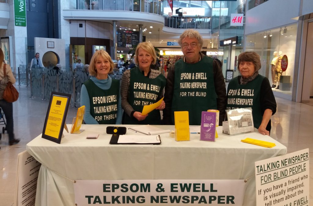 Picture of volunteers manning the stand at Awareness day in the Ashley Centre