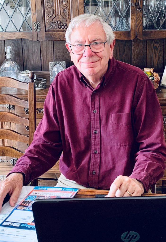 Photograph of Graham Penman at home